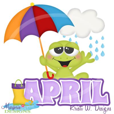 April title svg cutting files includes clipart 1 marjorie.