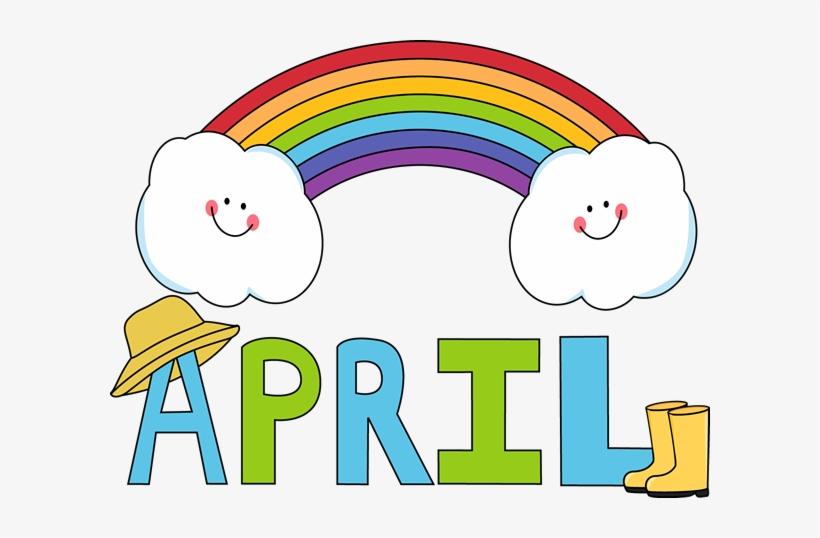 April Showers Bring May Flowers Clip Art April Rainbow.