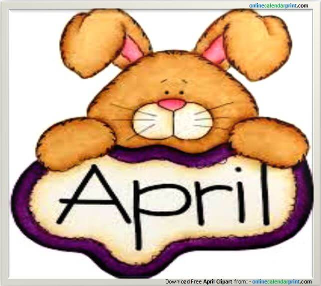 April Clipart.