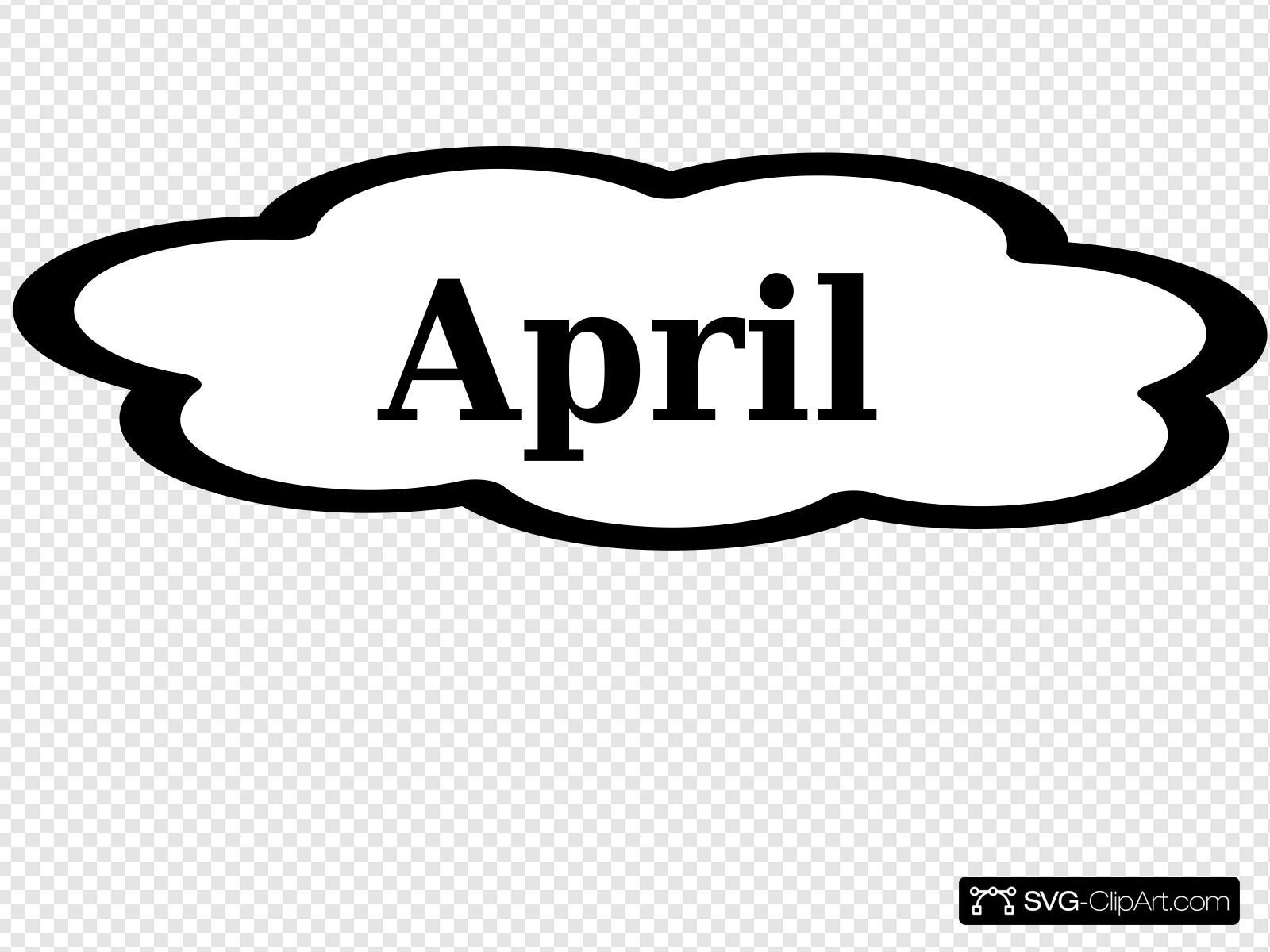 April Calendar Sign Clip art, Icon and SVG.