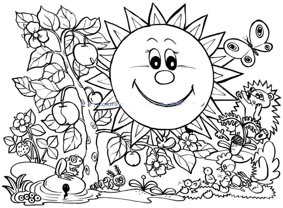 Coloring Pages : Spring Coloring Pages Clip Art April.