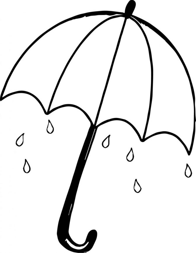 color pages: Stunning Coloring Page Of Umbrella Image.