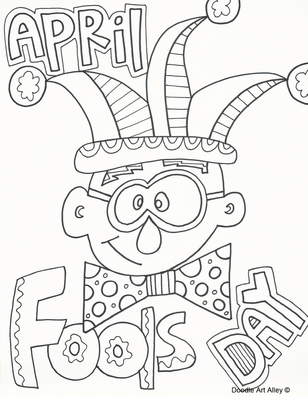 April Fools Day Coloring Page.
