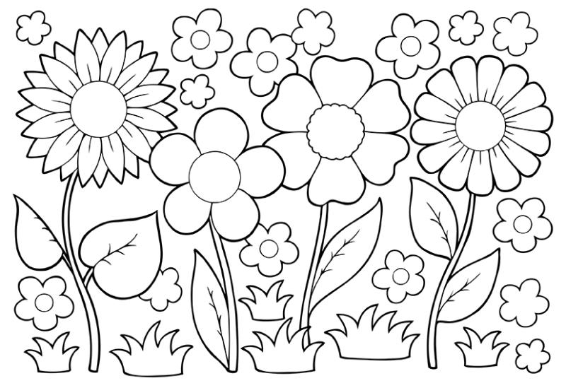May Flowers Clip Art Black And White April Showers Bring May.