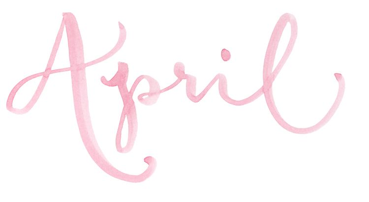 Names of the months. Hand Lettered watercolor calligraphy.