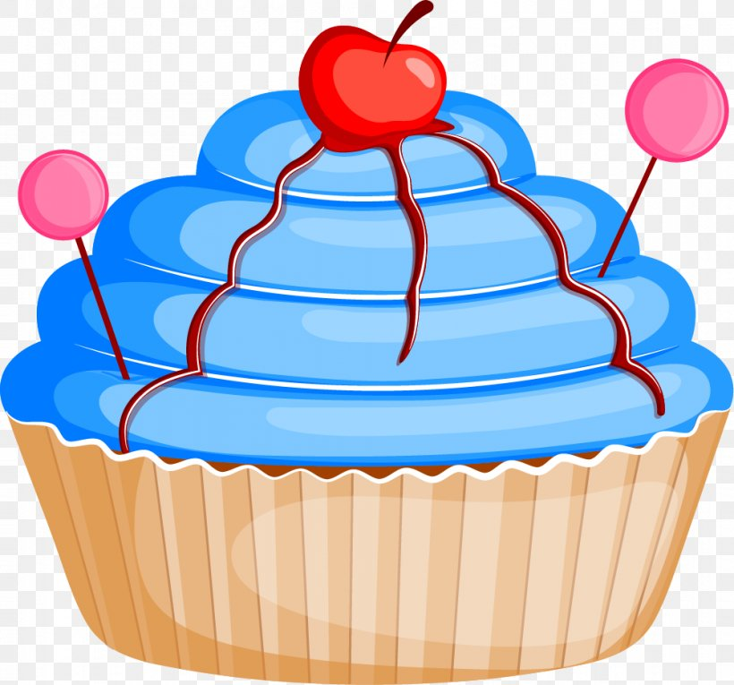 Cupcake Cherry Cake Clip Art, PNG, 1001x935px, Cupcake.
