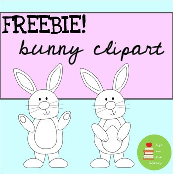 FREE black and white bunny clipart ~ Easter ~ rabbit ~ Spring ~ March ~  April.