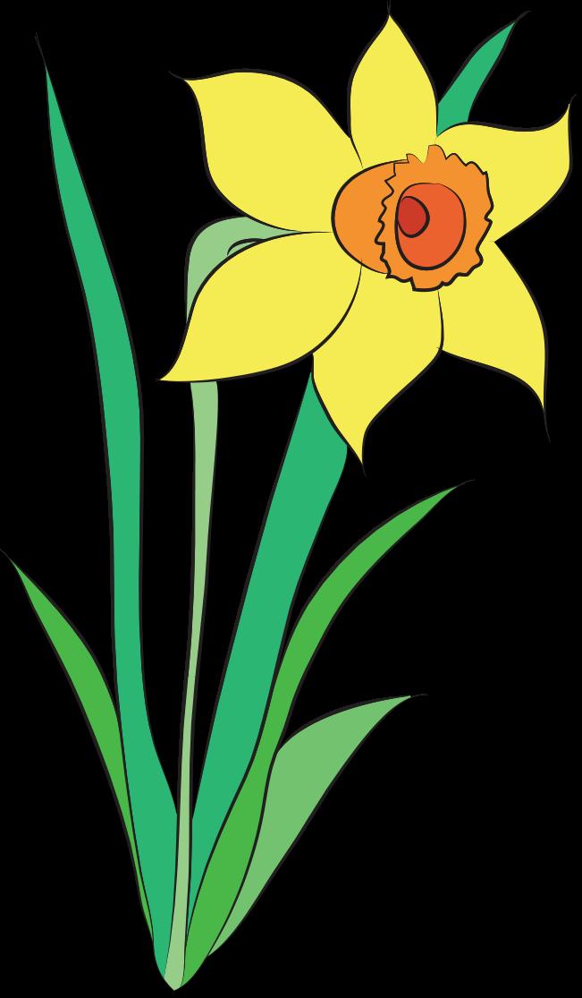 April Flower Clipart.