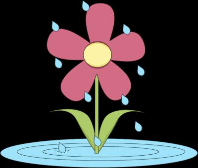 Flower clip art april.