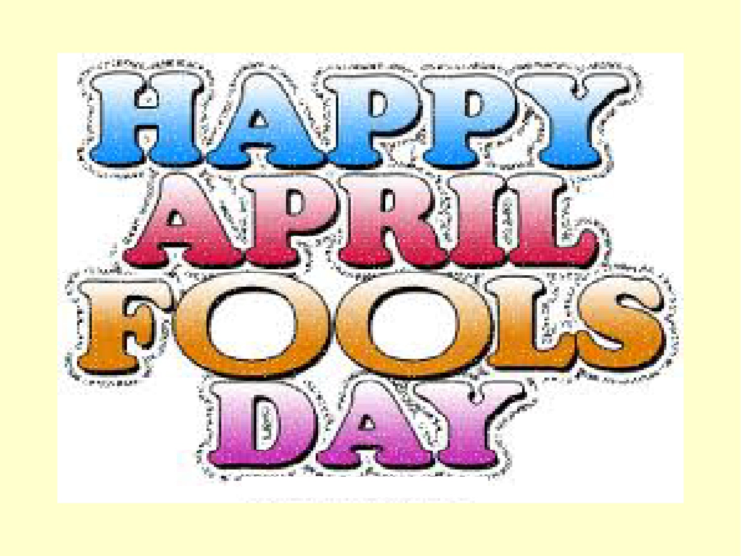 April Fools\' Day By Sagrario Santana From Holmes Middle.