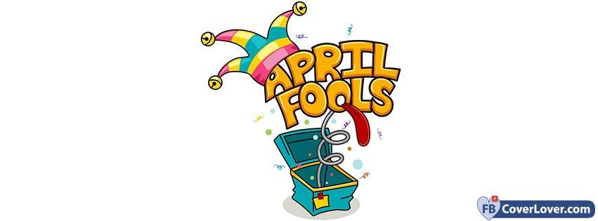 April Fool's Day Joker Box seasonal Facebook Cover.