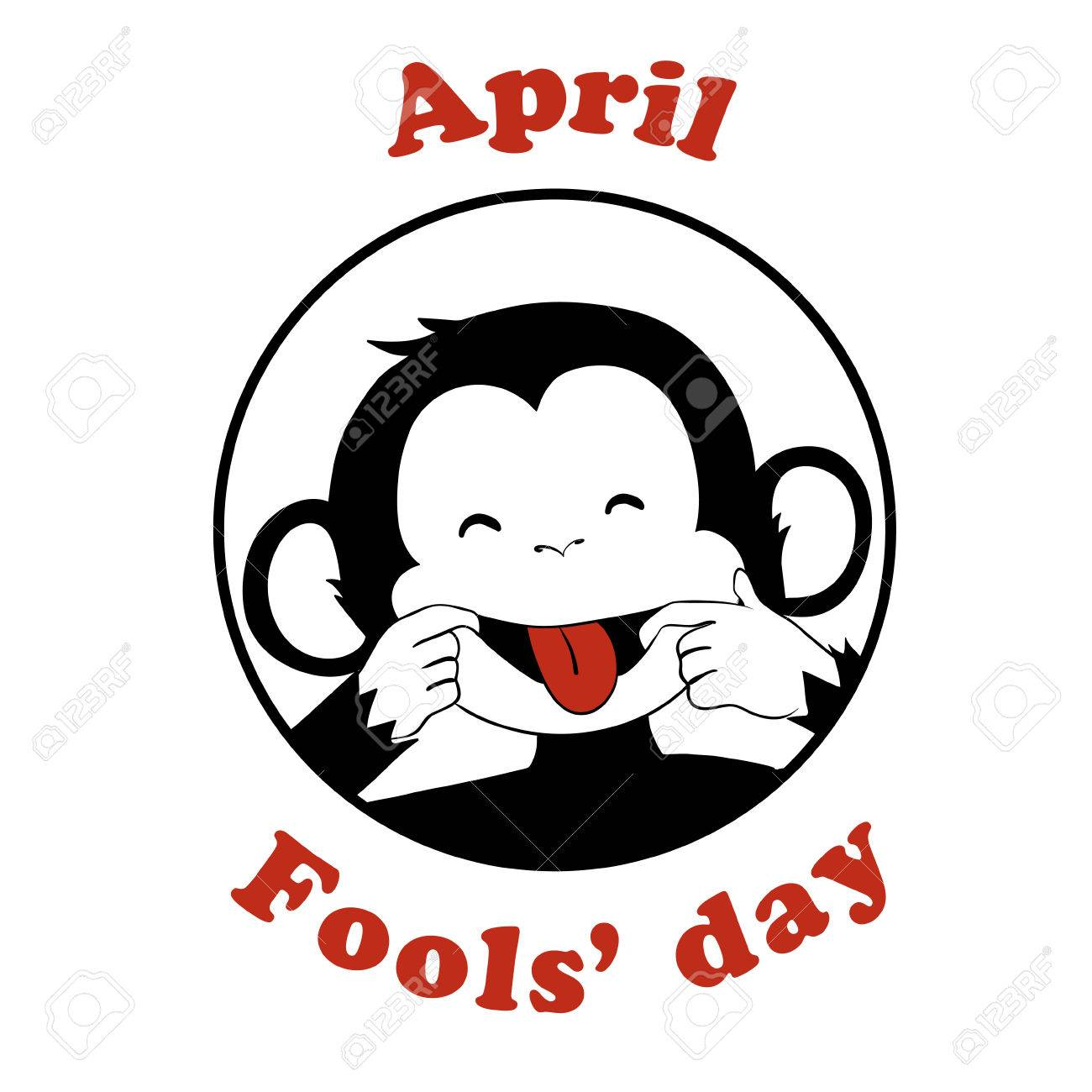 1 April Fool day. Vector funny cartoon All fools day icon. April...