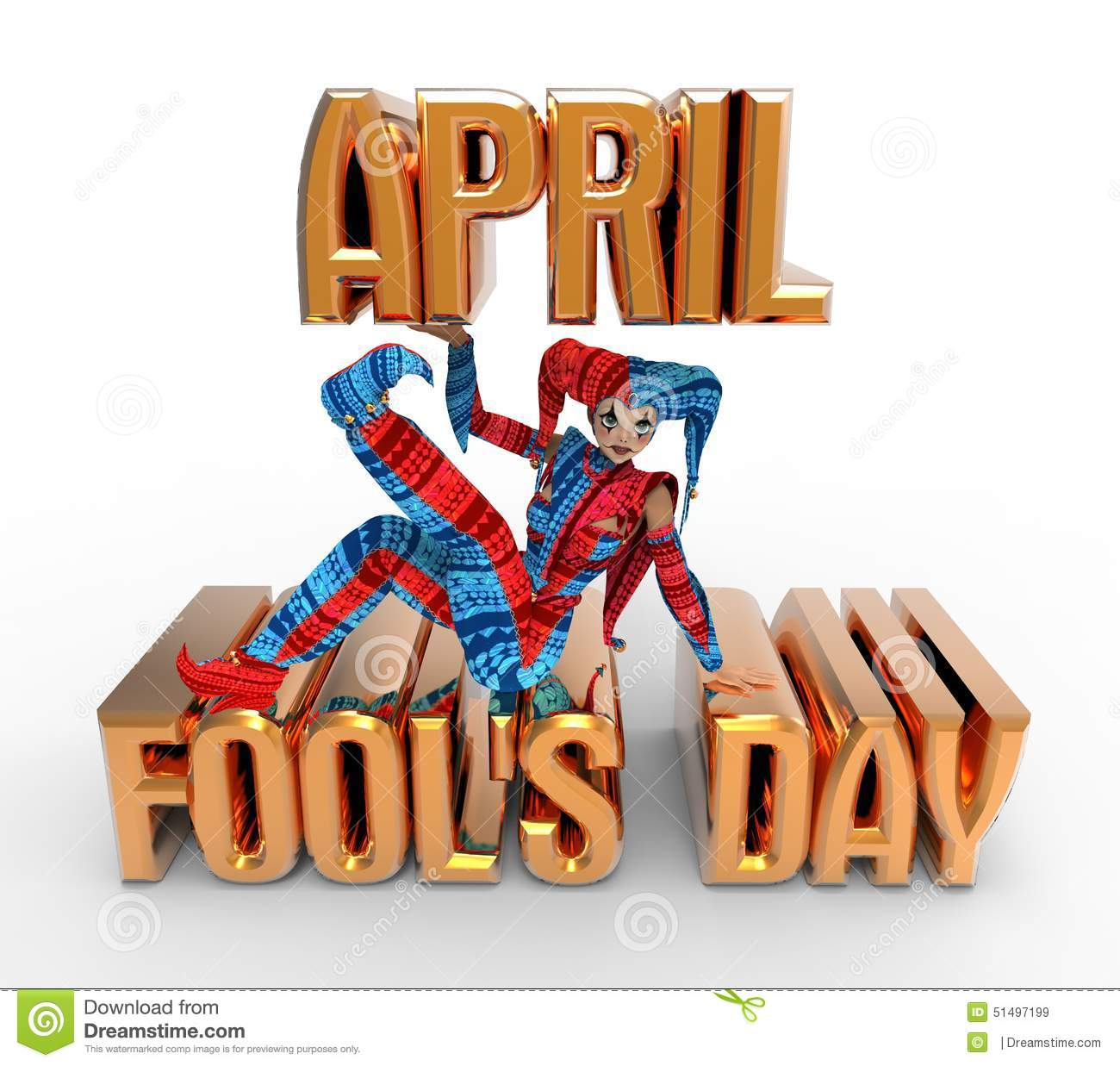April Fool's Day Clipart stock illustration. Illustration of fool.