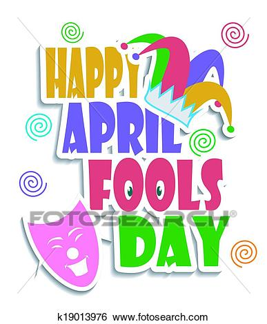 Happy April Fools day Clip Art.