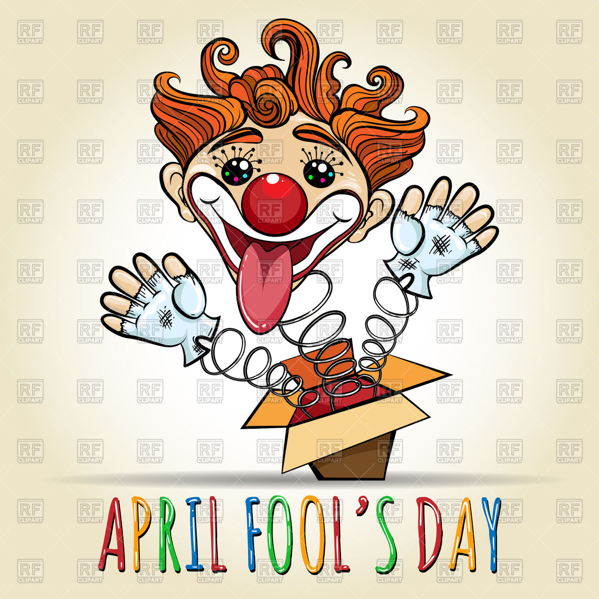 Happy April Fool's Day Stock Vector Image.