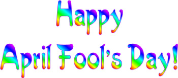 Happy April Fool's Day Banner Clip Art.