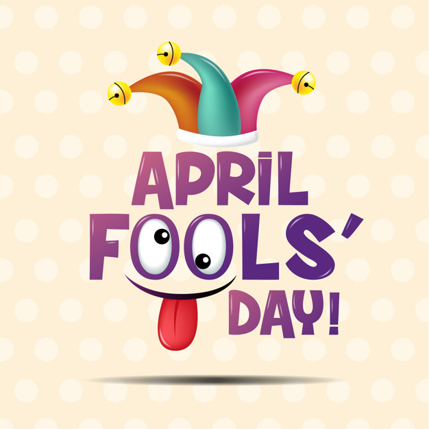 April fool\'s day Vector.
