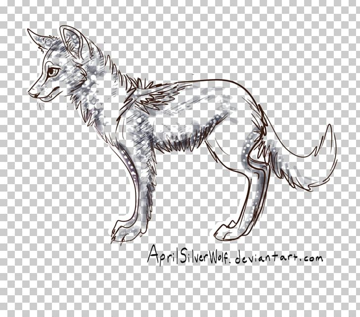 Red Fox Gray Wolf Cat Line Art Sketch PNG, Clipart, 7 April.
