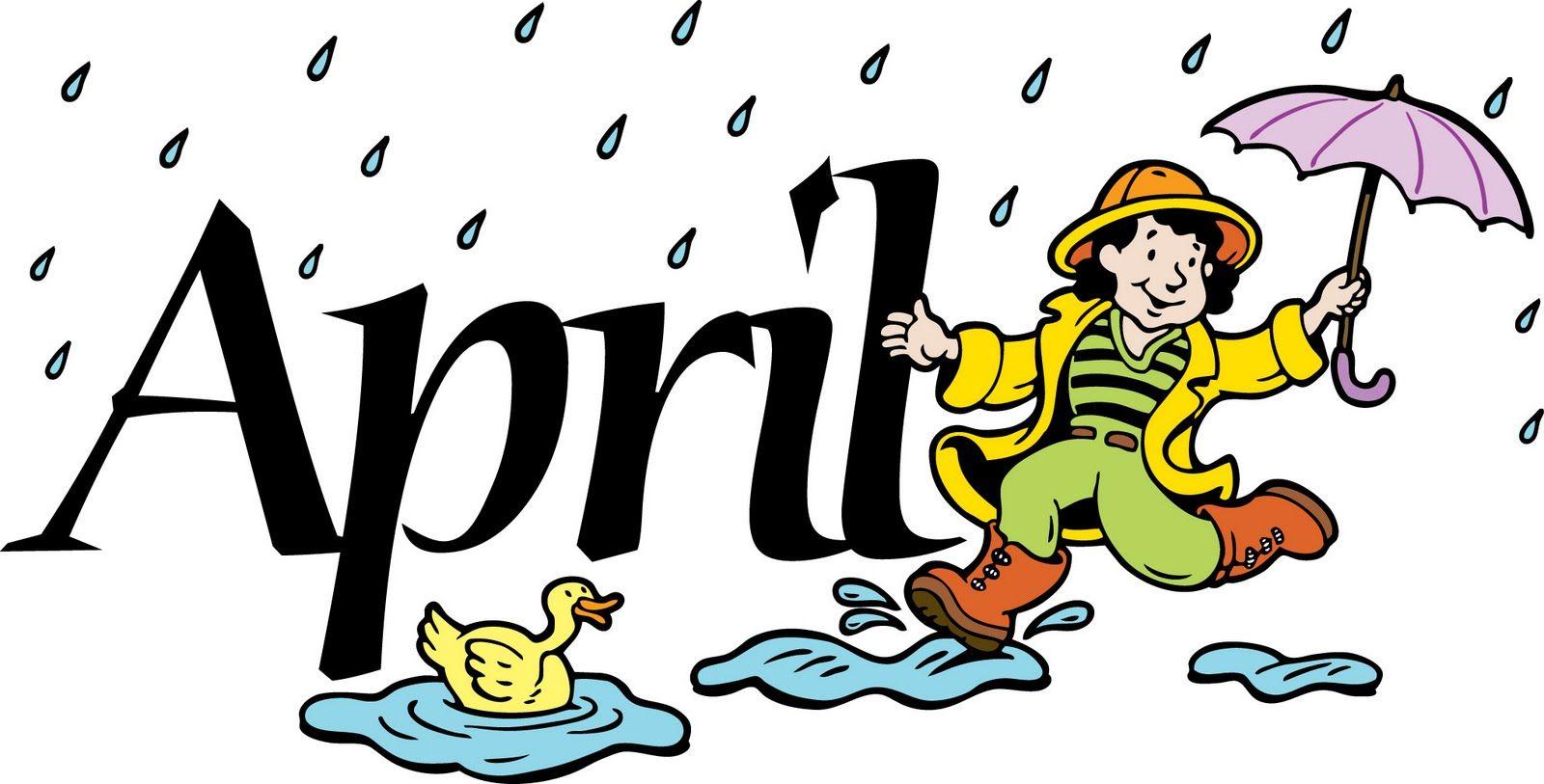 Free month of april clip art clipart image.