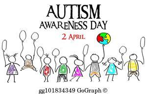 Autism Awareness Month Clip Art.