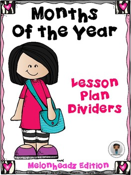 Months of the Year Lesson Plan Dividers.