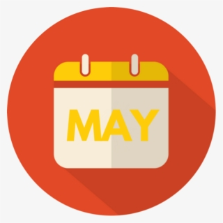 Free May Calendar Clip Art with No Background.