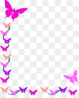 Butterflies And Flowers PNG.