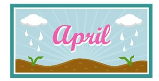 free month of april clip art. april free clip art. april.