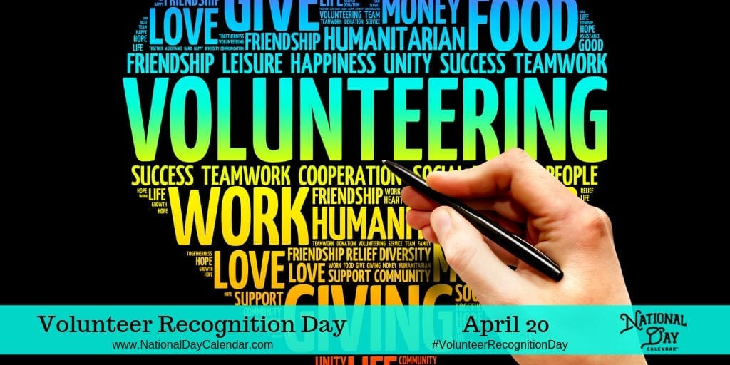 VOLUNTEER RECOGNITION DAY.