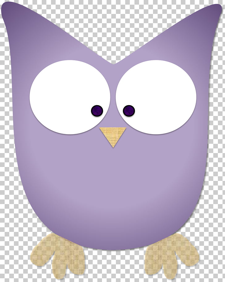 Owl Beak 13 April Purple , creative owl PNG clipart.
