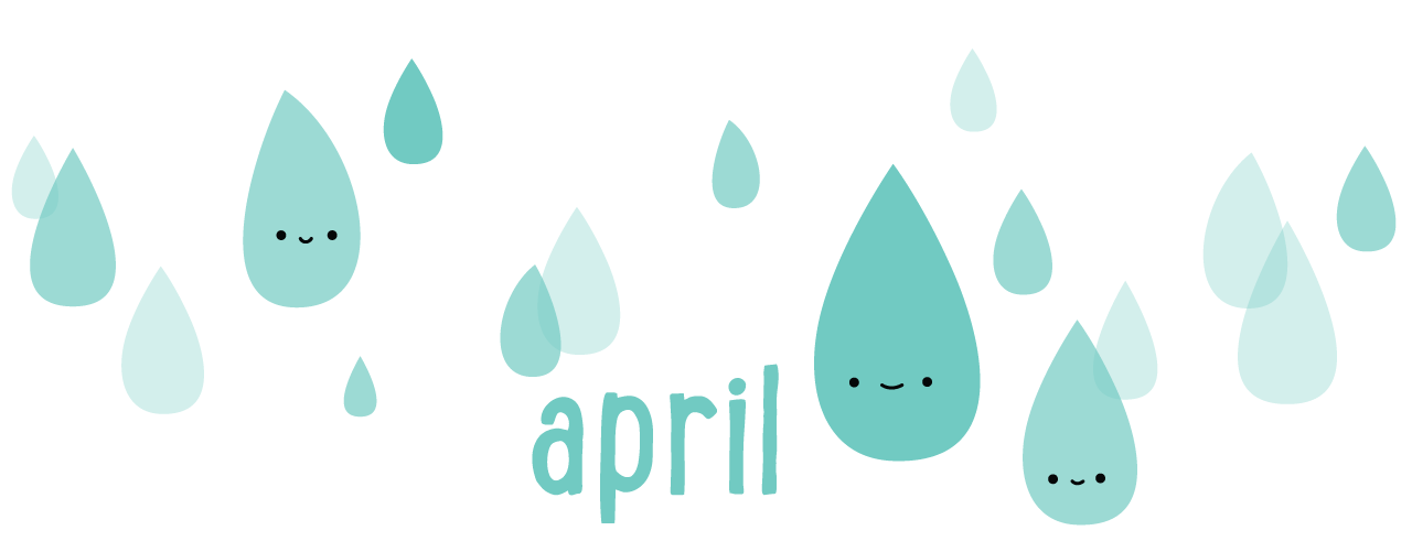 Calendar // April's Raindrops Keep Falli #51100.