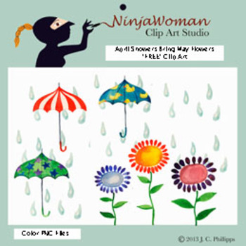April Showers Bring May Flowers *FREE* Clip Art.