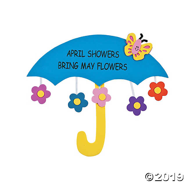 April Showers Bring May Flowers Sign Craft Kit.