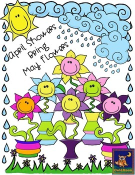 Spring Clip Art: April Showers Bring May Flowers.