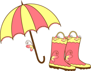 Free April Showers Clip Art Images.