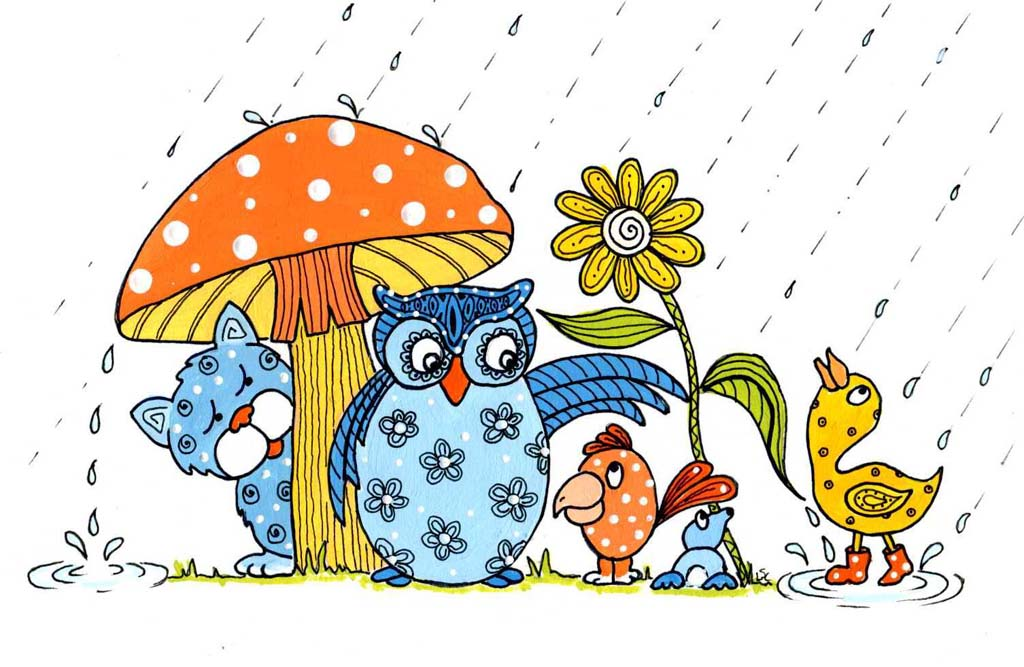 March showers clipart.