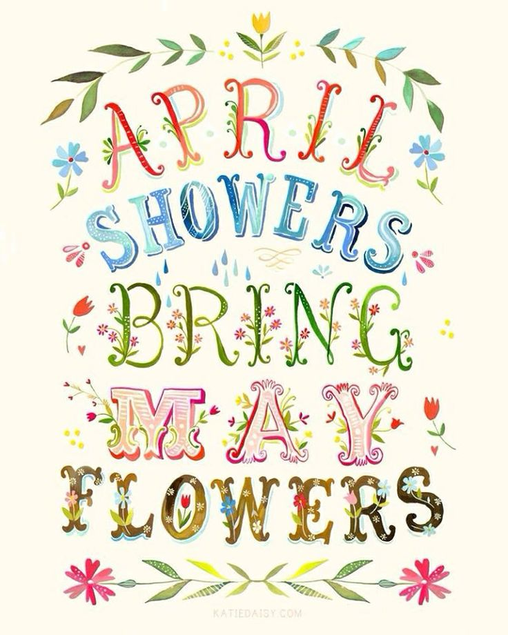 April Showers Bring May Flowers Baby Shower on.