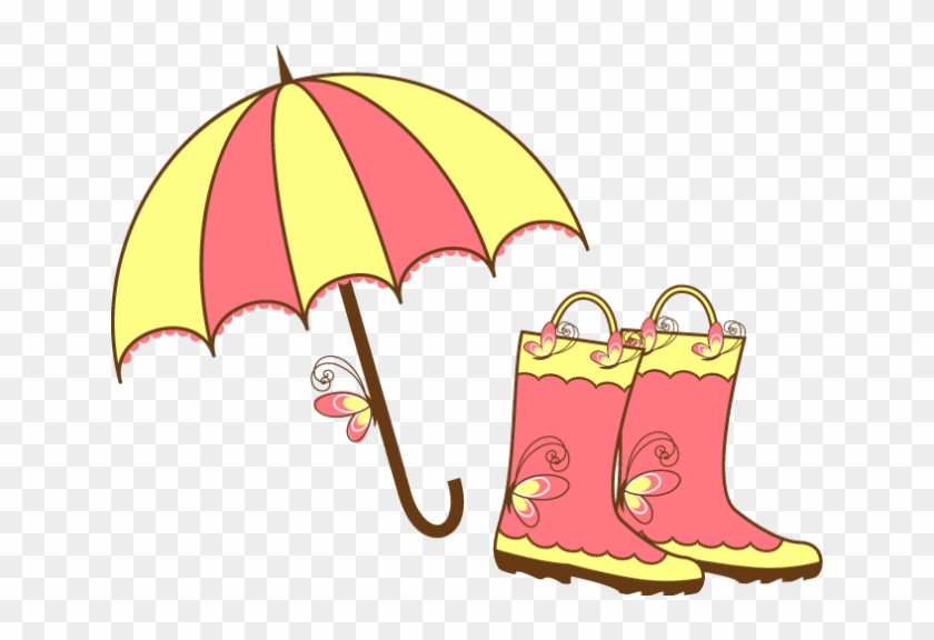 April Showers Clip Art Images Umbrella And Clouds.