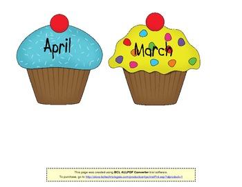 Birthday Cupcakes (for bulletin board).