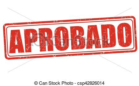 Aprobado (approved) sign or stamp.