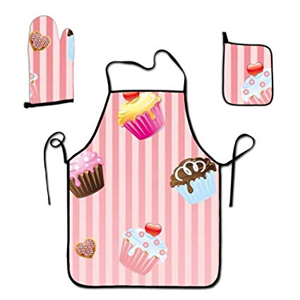 Amazon.com: HACVREQ Sweet Cakes Apron for Adult,Matching.