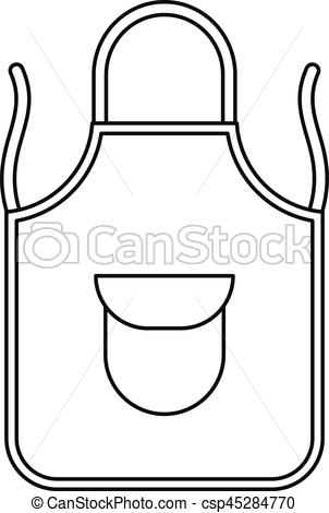 Apron clipart black and white 1 » Clipart Station.
