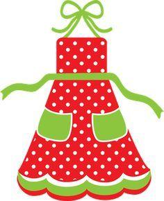 CHRISTMAS APRON CLIP ART.