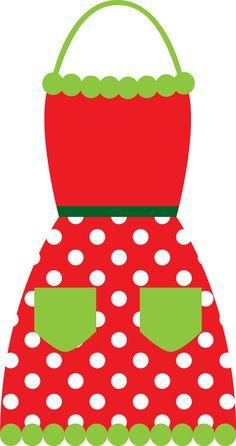 Christmas apron clipart.