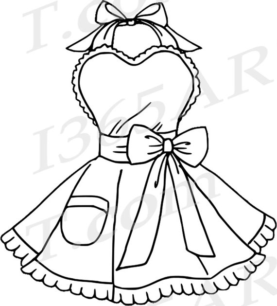 680 Apron free clipart.