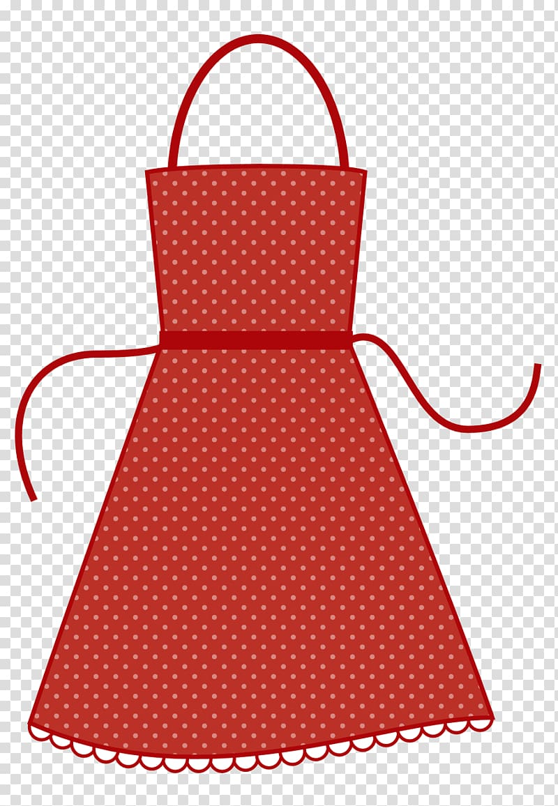 Apron , Red Apron transparent background PNG clipart.