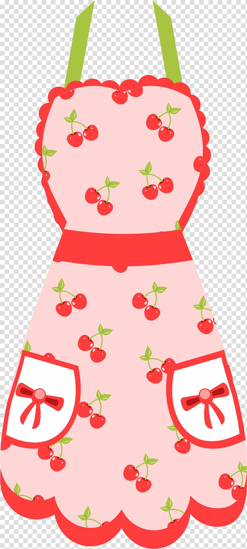 Pink and white cherry apron, Apron Retro style Kitchen.