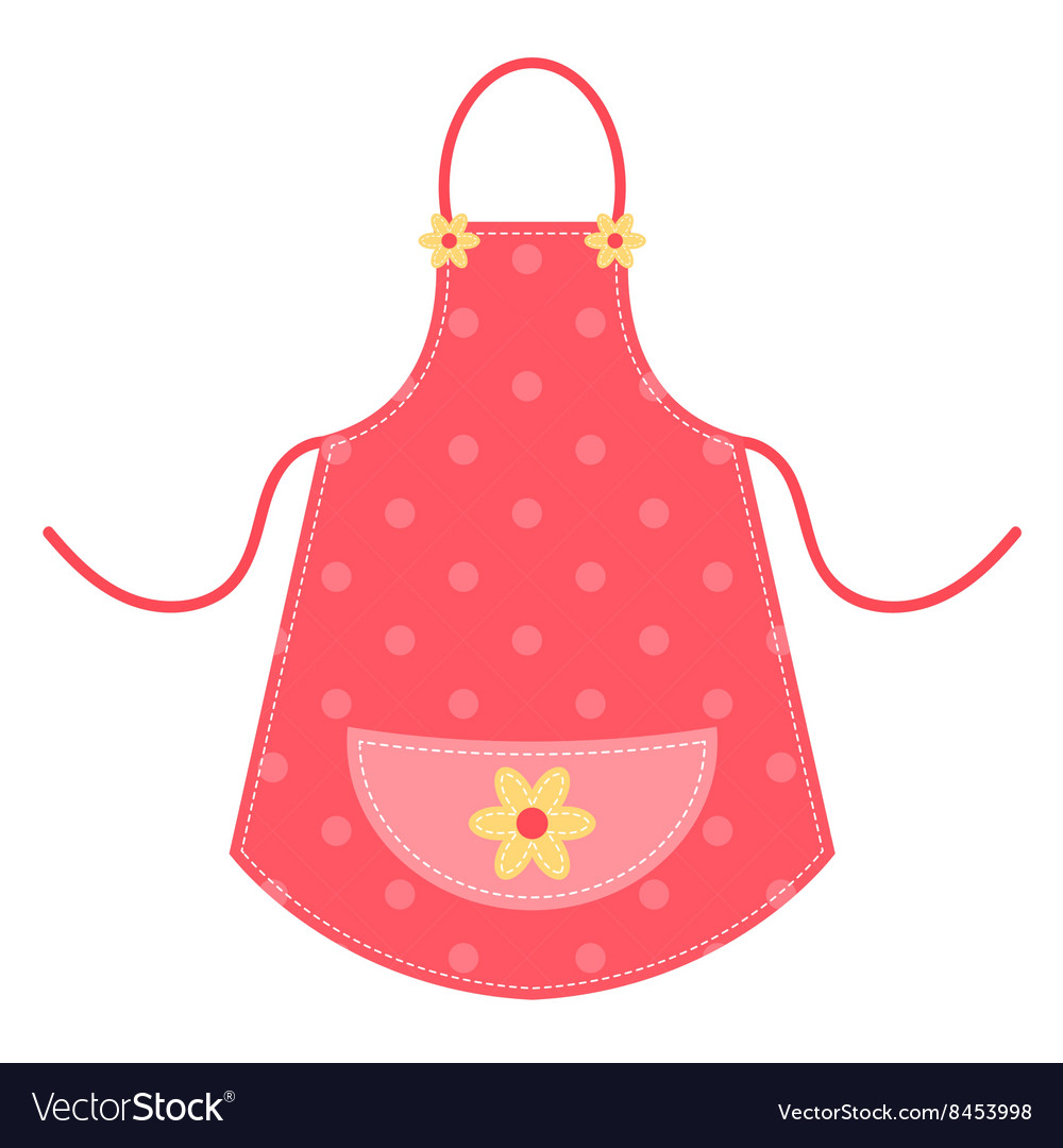 Cute red apron.