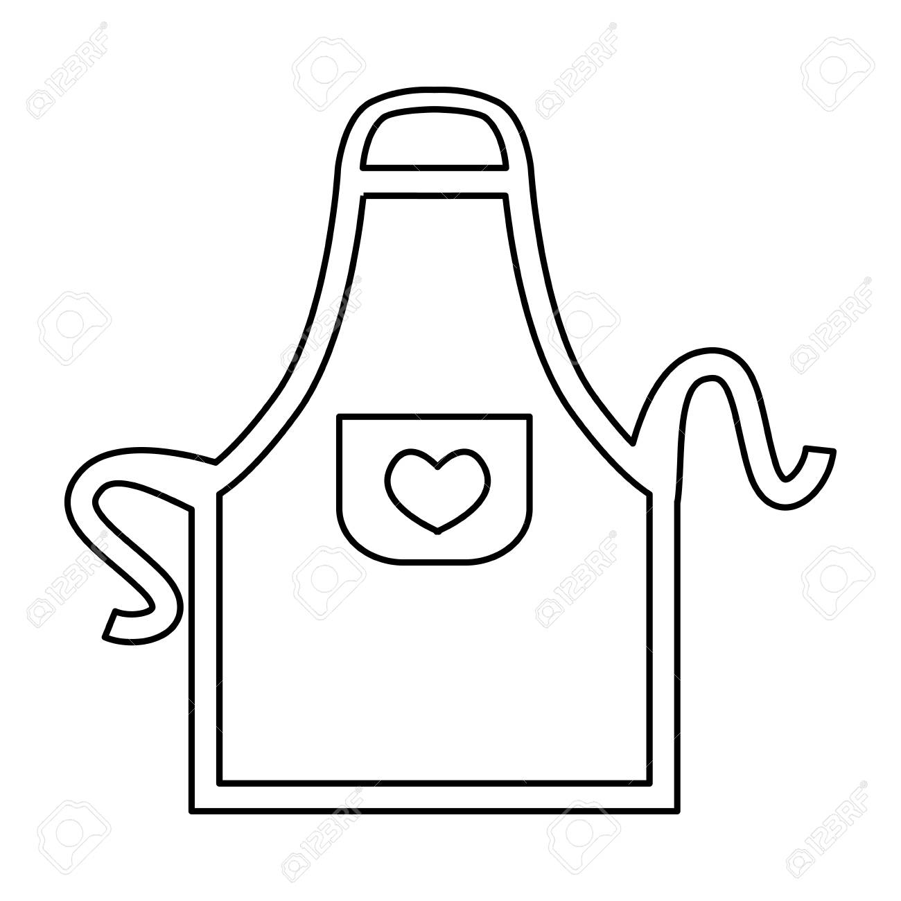apron cooking clothes vector icon illustration graphic design.