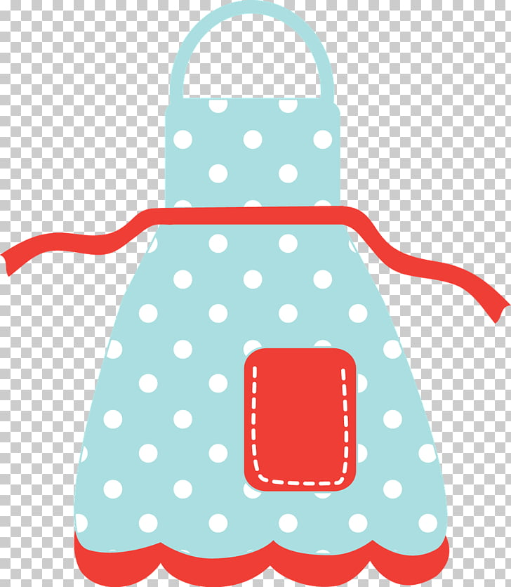 Apron Kitchen , hello, teal and red apron art PNG clipart.